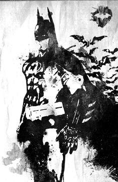 Batman Illustration by Antony Lottin ~ The Dark Knight Rises