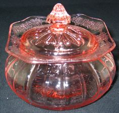 Vintage Adam Pink Depression Glass Candy Dish by greencreekfarm