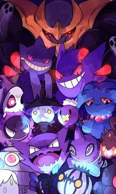 All ghost Pokémon.