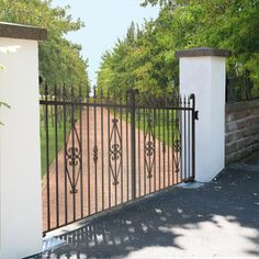 Buy The 'Rockingham' Wrought Iron Driveway Gate from The Iron Gate Shop UK, Unlike other gate companies we can offer 0% finance and free UK Mainland delivery on our products.