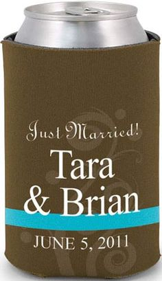 Totally wedding koozies - full color
