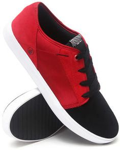 Volcom   Grimm Red/Black Canvas Sneakers. Get it at DrJays.com