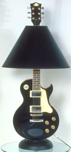 Dan Leap Designed Retro LP Carved Top Guitar Lamp