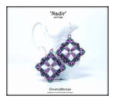 Bead pattern Tutorial DIY Nadir earrings with by CrownofStones