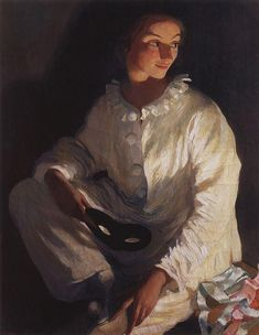 Pierrot (Self portrait in the costume of Pierrot)  - Zinaida Serebriakova