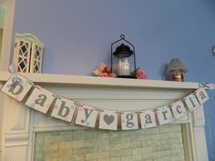 polkadot baby shower ideas | Baby Shower Decorations Polka Dot Baby Name Banner New Baby Sign ...