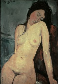 'Seated nude (female)' Modigliani, Amedeo; 1884-1920. 'Seated nude (female)', 1916. Oil on canvas, 92 x 60 cm. London, Courtauld Institute Galleries.