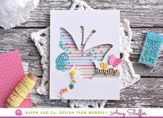 Queen & Co. Solo Butterfly Card Kit