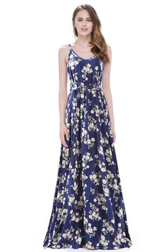 Clearance dresses are final sale. This dress is FINAL SALE. Floral printed maxi dresses are a summer staple! This flowy design is perfect for hot summer days around town, beach vacations and everything in between. We love this look with comfy s Beautiful Bridesmaid Dresses, Wedding Dresses Plus Size, Beautiful Gowns, Matric Dance Dresses, Maxi Dresses, Blue Floral Maxi Dress, Affordable Dresses, Formal Evening Dresses, Maxi Dress With Sleeves