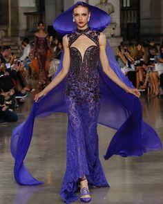 Royal Purple Majesty. GEORGES HOBEIKA Haute Couture FW 17-18 #georgeshobeika #pfw #fw1718 #fw #paris
