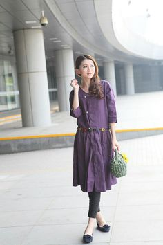 love this purple dress with gray background!