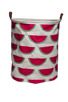 Make storing toys, laundry and more with ease with these fun and fresh canvas storage baskets from ECD. Watermelon Patch, Watermelon Crafts, Watermelon Baby, Watermelon Painting, Bed For Girls Room, Baby Girl Room Decor, Baby Decor, Girls Bedroom, Kids Storage