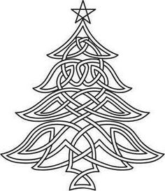 Paper Embroidery Patterns Celtic Christmas Tree_image by Urban Threads - inspiration for a Zentangle Celtic Quilt, Paper Embroidery, Embroidery Patterns, Machine Embroidery, Zentangle Patterns, Embroidery Stitches, Celtic Symbols, Celtic Art, Celtic Knots