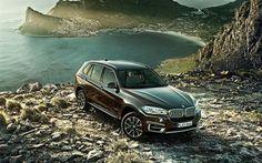 Herunterladen hintergrundbild bmw x5, 2018, 4k, luxus-suv, braun x5 deutschen autos, bmw