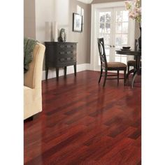 Home Legend High Gloss Santos Mahogany 3/8 in.Thick x 4-3/4 in.Wide x Random Length Click Lock Hardwood Flooring(24.94 sq.ft./case)