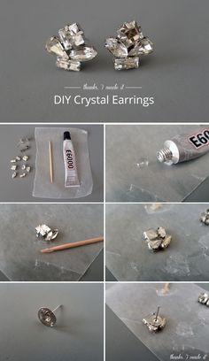 : DIY Crystal Cluster Earrings