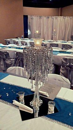 Denim Amp Diamonds Themed Luncheon Table Decorations