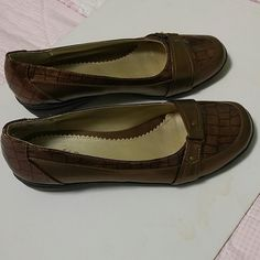 Rialto Shoes NWOT. Bronze Color. New. Never Worn. Flats slip on. Rubber soles. Rialto Shoes Flats & Loafers