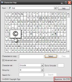 Unicode Character Map By Babelmap ItS For Windows  Babelmap