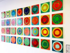 rosemary pierce modern art | dancing circles | modern wood wall sculpture