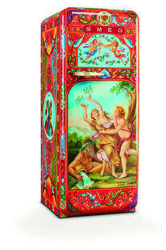 D&G Smeg Handpainted Fridge