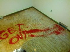 "*not my friends... i found this on a facebook page which is linked to this.* ""Some friends left a surprise for the next people who redo the carpet.."" #funny #pranks"