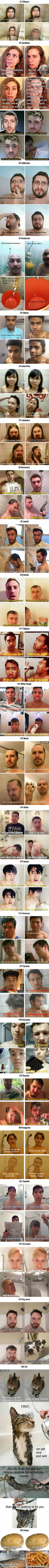How do Australians shower? Just like you! First we get a little wet, then we put some shrimp on the barbie.