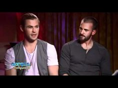 Access Hollywood Chris Evans and Chris Hemsworth - The Avengers