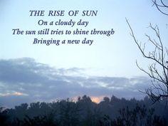 The Rise Of Sun © Copyright Ethel GG Kent