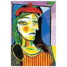 PICASSO - Femme au beret rouge #artprints #art #prints #interior #design #Picasso  Scopri Descrizione e Prezzo http://www.artopweb.com/autori/pablo-picasso/EC17228