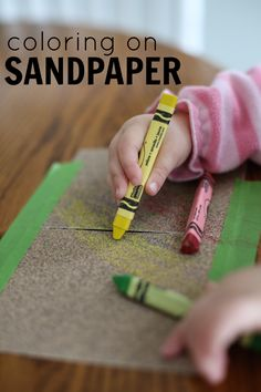 Coloring on Sandpaper Activity for Toddlers (simple art project older kids will enjoy too!)