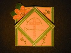 CTMH Diamond Fold Card with Hooray Bouquet stamp set Ink and Rejoice: Praying for friends who are undergoing cancer treatments