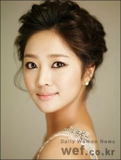 korean bridal updo