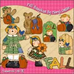 Fall Bumpkins ClipArt Graphic Collection  £5.99  Sale: £0.61  Save: 90% off