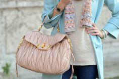 Miu Miu maxi bag, Pastel colors in Roma