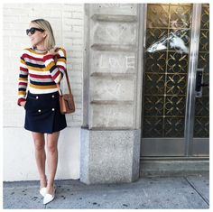 "Pin for Later: The Best Outfits We've Ever Worn — According to Our SOs ""Anything Striped"" ""My boyfriend loves it when I wear stripes. Whether it's a dress, sweater, or shirt, almost every time he says, 'You look absolutely adorable.'"""