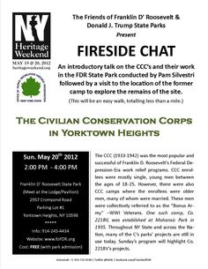 Fireside Chat: The Civilian Conservation Corps in Yorktown Heights New York