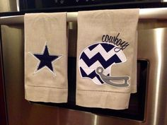Dallas Cowboys Vintage Tea Towels by AddieBelleBoutique on Etsy, $15.00