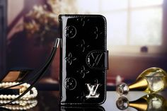 Hot Sale Real Leather LV iPhone 6s/6s Plus Wallet Case - Black - Luxury iPhone6S Case