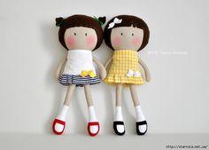 My Teeny-Tiny Dolls® - Handmade Fashion Dolls in nautical themed tennis dresses Fabric Toys, Tiny Dolls, Sewing Dolls, Doll Maker, Felt Toys, Doll Crafts, Stuffed Toys Patterns, Doll Patterns, Art For Kids