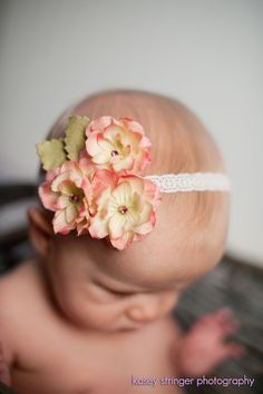 Triple Cherry Blossom with Suede Leaf Accent Headband or Clip