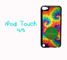 Custom PERSONALIZED Chevron MONOGRAM Cute Back Case Cover For Apple iPod 6 5 4