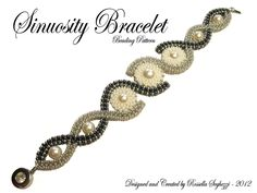 Bead Pattern Bracelet Sinuosity - Pdf file Only for personal use. €7.00, via Etsy.