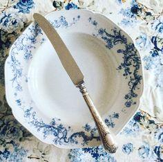 Transferware/blue and white/plate/flatware