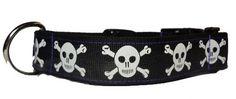 Black Skulls Dog Collar