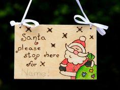 Stop Santa Here Personalised Christmas by Beecreativebox on Etsy