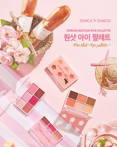 CHICA Y CHICO One Shot Eye Palette (Spring Palette) (2 Types) | YesStyle Eye Palette, Korean Beauty, Spring, Make Up, Eyes, Beauty Products, Cosmetics, Makeup, Maquiagem