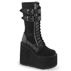 SWING 221 Demonia Pleaser USA Sinister Gothic Punk Rock Boots