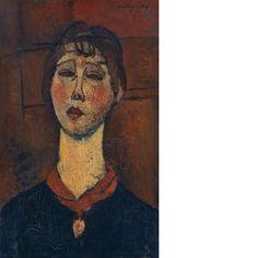 Portrait de Madame Dorival Amedeo Modigliani Livorno 1884–1920 Paris 61x38 cm Kunstmuseum Basel