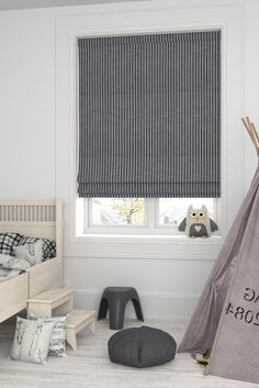 Buy Nestor Slate Black Made To Measure Roman Blind from the Next UK online shop Boys Bedroom Curtains, Bedroom Blinds, Kids Bedroom, Bedroom Ideas, Bedrooms, Roman Blinds, Curtains With Blinds, Curtain Hardware, Child Safety